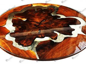 Epoxy Walnut Root Round Table