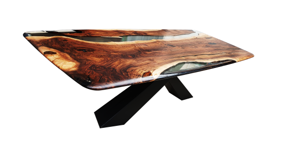 oval shape resin table