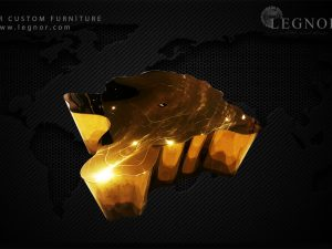 Stainless Steel Root Coffee Table