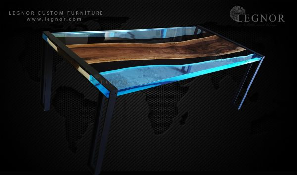 two face epoxy table