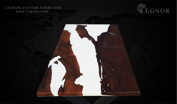 white epoxy table