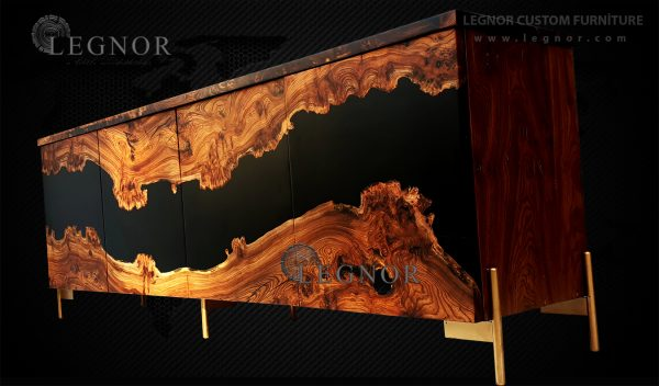 black resin console