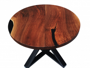 Extendable Table with Black Resin